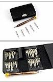 ESPLB Portable 25 in 1 Screwdriver Wallet Tool Kit Precision Opening Repair Tool Screwdrivers Kit for Cell Phone
