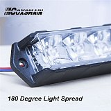 DUAL COLOR Car LED Grill Surface Mounting strobe light, 6*3W each LED, LED Strobe warning light Truck Traffic Beacon (VS-938D)