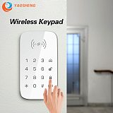 YAOSHENG Wireless Keypad For Smart Home Security System Extention Keypad For Burglar Fire Alarm Host Control Panel Support RFID