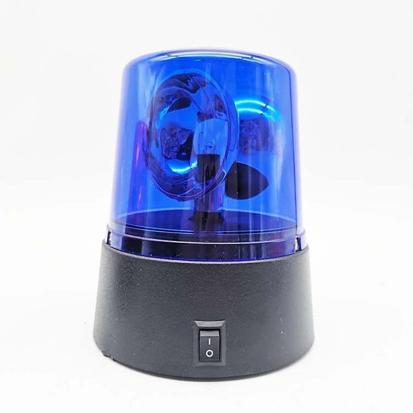 Novelty Rotating Blue LED Police Car Beacon Disco Ball DJ Light LED Car Truck Strobe Warning Light