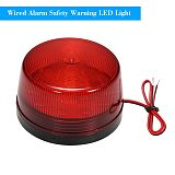Wired Alarm Strobe Signal Safety Warning LED Light Flashing Waterproof 12V 120mA Safely Security for Alarm System