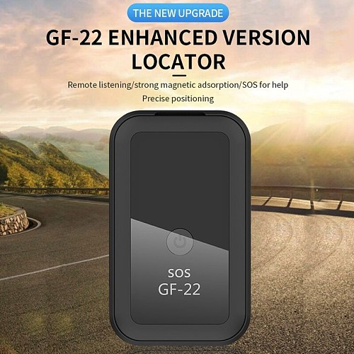 2021 New GF22 Car GPS Tracker Strong Magnetic Small Location Tracking Device Locator for Car Motorcycle Truck Recording Tracking