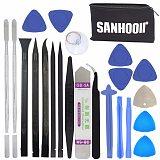 SANHOOII 22in1 Mobile Cell Phone Repair Screen Opening Tools kit Metal Spudger Pry Table TV Box Toy Game Console Repairing Tool
