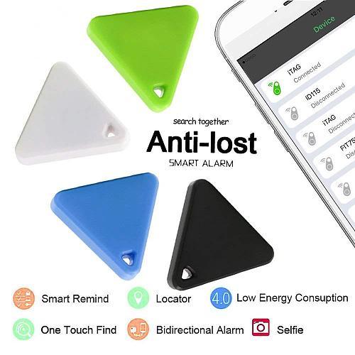 Pet Smart Mini GPS Tracker Pet Locator Anti-lost Waterproof Bluetooth Tracker Triangular Kids Dog Cat Tracker Multiple Colors