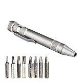 Portable 8 in1 Mini Precision Aluminum Screwdrivers Pen Style Driver Multi-Tool  Mobile phone Repair Tool Kit Screw Set Bits