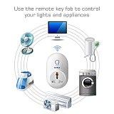KERUI 5Pcs Smart Socket Home Security 433Mhz Wireless Smart Switch Socket Work With Kerui K52 W18 W20 G18 W2 Alarm System