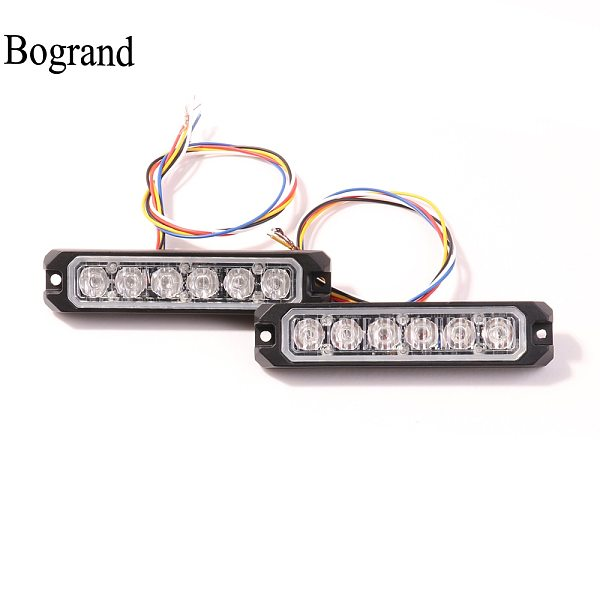 Bogrand Led Strobe Light 5 wires Warning Lights with Synchronous Funtion Uper Bright Emergency Blinking Lamp Flashing Side lamp
