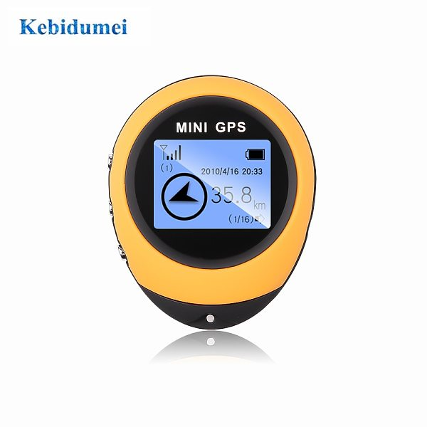 KEBIDU Mini GPS Navigation Receiver Portable Outdoor Location Finder Tracker with Kay Chain USB Rechargeable Tracking Recorder