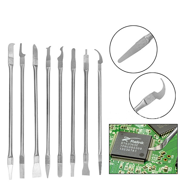 8 In 1 IC Chip Repair Thin Tools Set CPU Metal Remover Burin To Remove For Mobile Phone Computer CPU NAND IC Chip Repair