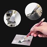 UANME 16PCS IC Chip Repair Thin Blade Tool CPU Remover for iPhone Processors NAND Flash Mainboard Repair Tool