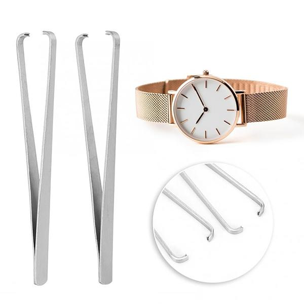 2pcs Stainless Steel Tweezers Watch Minute Second Hour Hand Removal Tool Manual Hand Remover Watch Repair Tool for Watchmaker