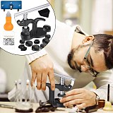 16Pcs Watch Press Tool for Watch Back Remover Closer Repair with Watch Battery Replacement Kit Fitting Dies