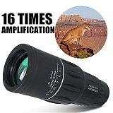 Portable 16 X 52 High Over Telescope Monocular 66/8000M Binoculars Outdoor Sports Black for Bird Watching Hunting