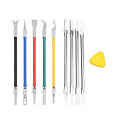 LUXIANZI 5 in 1 IC Chip Repair Thin Tools Set Glue Burin To Remove For Phone Computer  CPU NAND Repair Metal Blade Remover