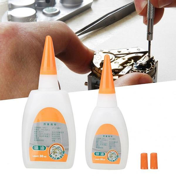 2pcs Watch Oil Maintenance Cleaning Repair Clock Wristwatch Tool of  20ml + 30ml Lubricant  tool For Watchmaker Watch Repair