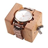 Professional Wooden Watch Case  Block Vise Clamp Movement  Wood+Stainless Steel Watch Repair Tool Kits for Watchmakers
