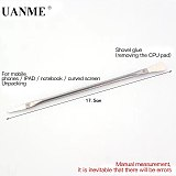 UANME 4PCS IC Chip Repair Thin Blade Remover with Handle for A8 A9 CPU Processors NAND Flash Mainboard