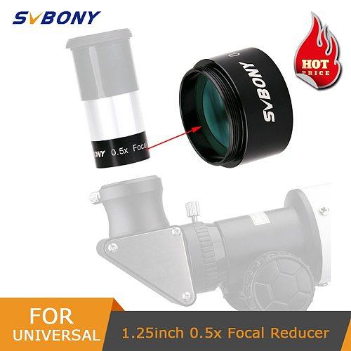 SVBONY 1.25  0.5X Focal Reducer M28.5*0.6 Barlow Lens for Astronomy Monocular Binoculars Telescope Eyepiece Photography&Observin