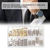 Multi-Size Watch Winding Stem Extender + Crowns Accessory Repairing Replacement Watch Extension Bar Watch Crowns Stems Tool Kit