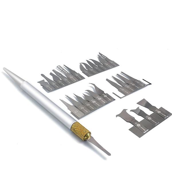 25 in 1 IC Chip Repair Thin Blade CPU NAND Remover BGA Maintenance Knife Remove Glue Disassemble Phone PC Rework Processor Tools