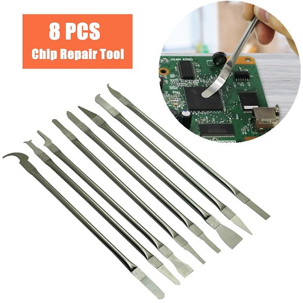 8in 1 IC Chip Repair Thin Blade Tools Set CPU Metal Remover Burin To Remove For Mobile Phone Computer CPU NAND IC Chip Repair