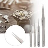 Professional Stainless Steel Antimagnetic Acid-proof Design Tweezers High Hardness Watch Repairs Accessory Tool for Watchmaker