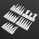 27 In 1 IC Chip Repair Thin Blade Tool CPU Metal Remover Burin To Remove For Mobile Phone Computer Processor Repairing Tools