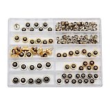 Charminer 60pcs 5.3mm 6.0mm 7.0mm Watch Crown for Rolex Copper Silver Gold Repair Accessories Assortment Parts
