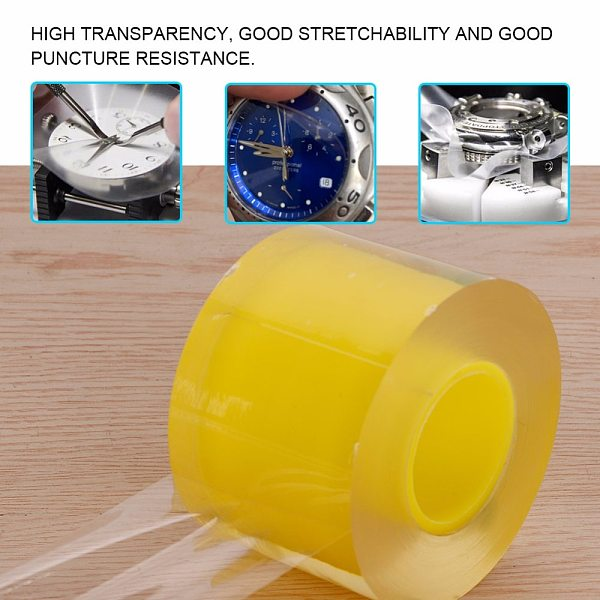 1 Roll 50MM Transparent Anti-Static Protective Film Watch Jewelry PVC Film Tape Watch Part Repair Tool Accessory for Watchmaker