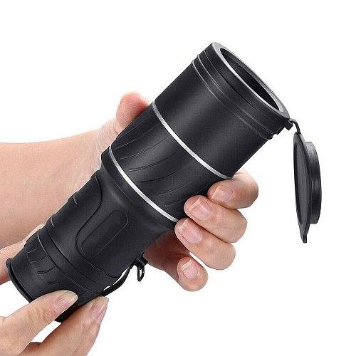 Portable 40x60 High Over Binoculars Telescope Monocular 66 / 8000M Plastic Binoculars Outdoor Black Outdoor Sports Telescope