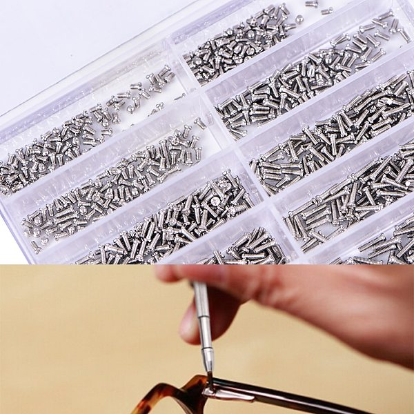 1000pcs/set Assorted Screws For Watch Clock Eye Glasses Watchmaker Repair Part Tool 100% Brand New