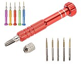 1pc Watch Screwdriver Handle Repair Tool With 5  Bits Phone Glasses High Quality Watch Repair Tools Kit for watchmaker