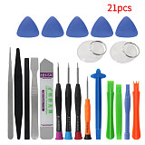 21 in 1 Mobile Phone Repair Tools Kit Spudger Pry Opening Tool Screwdriver Set for iPhone X 8 7 6S 6 Plus Tablets Hand Tools Set
