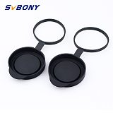 2 pieces Binoculars Protective Rubber Objective Lens Caps 42mm for Telescope with Outer Diameter 52-54mm W2590