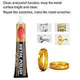 120g Metal Polish Paste Buffing Cream Anti-rust Antioxidant Polish Cleaner Metal Decoration Watch Clean Finish Scratch Repair