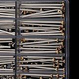 1 Box Watch Repair Tools Set Kits Watch Strap Screws Assortment Tube Friction Pin Clasps Straps Bracelets Rivet Ends 10Mm-28Mm