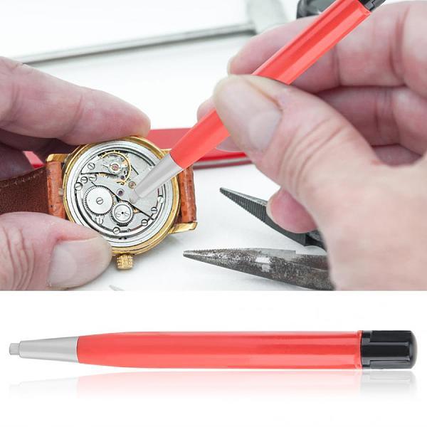 Watch Rust Removal Brush Pen Fiberglass Brass Steel Clean Scratch Polishing Tool Red Watch Repair Tool Watch Parts Accessory