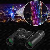 300x25 HD Powerful Binoculars 5000M Long Range Folding Mini Telescope BAK4 FMC Optics for Hunting Sports Outdoor Camping Travel