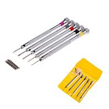 5pcs Alloy Steel Screwdrivers Set Practical Watchmaker Screwdriver Cutter Heads Tool Kit For Repairing Watches and Eyeglass