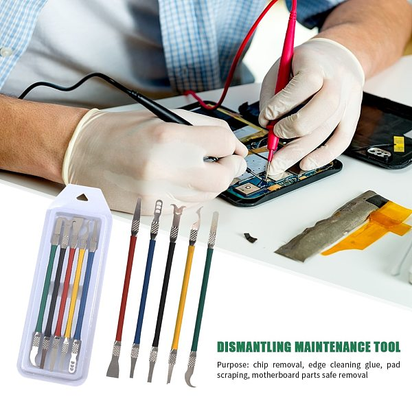 CPU Blade IC Chip Supplies UV Glue Cleaner Remover Motherboard Repair Tool Set Easily Carrying Lightweight Gadgets