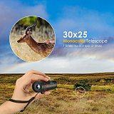 Monocular Telescope Portable 30x25 Mini HD Professional Monocular Military Zoom 10X Monocular Telescope Large Field Of View