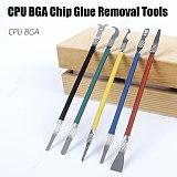 5pcs/set Smartphone Repair Tool Sets IC Chip Spatula Ultra Thin Blade Mobile Phone Motherboard CPU BGA Chip Glue Removal Tools