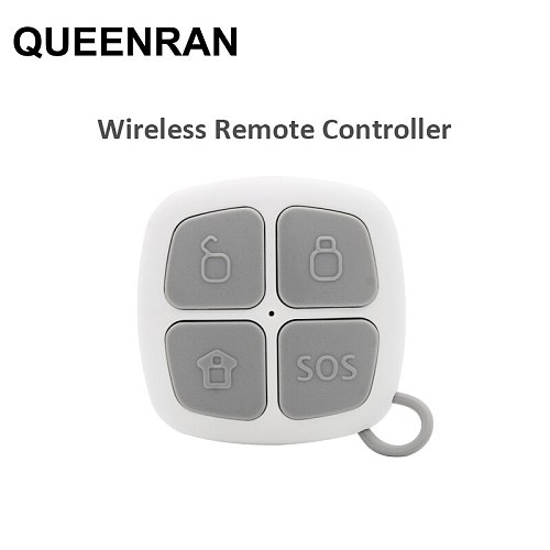 2pcs/lot 433MHz Keychain Remote Controller For G90E G90B PLUS Wifi GSM Alarm Systems ARM/DISARM/SOS