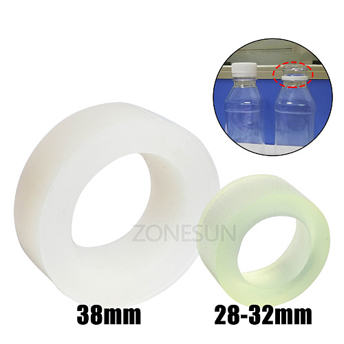Capping Machine Chuck Rubber Mat for Capper 28-32mm 38mm Round Plastic Bottle with Security Ring Silicone Capping Chuck