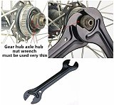 Cycling Bike Head Open End Axle Hub Cone Wrench 1PC Bicycle Carbon Steel Repair Spanner Tool Kit for Mountain Bike 13/14/15/16mm