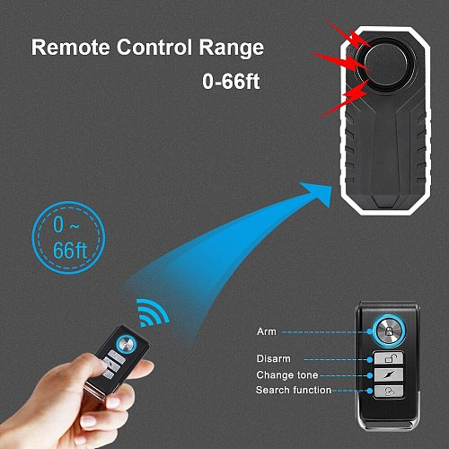 Wireless Waterproof Remote Control Remote Control Bicycle Alarm For Key Access Bicycle Sensor Switch