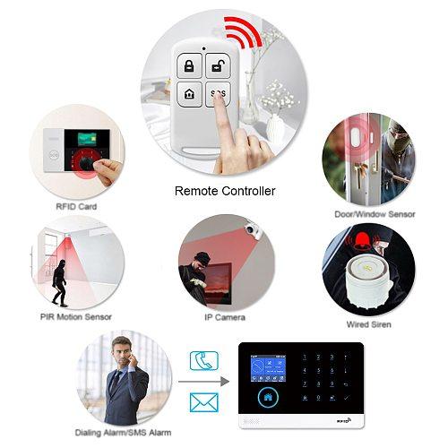 HIVA PF-50 Wireless 433MHz Remote Controller Arm & Disarm Detector for Home Burglar Alarm System Security PG-103 105 106 107 150
