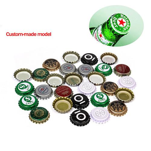 100pcs/lot Assorted Colors Beer bottle cap beer lid for DIY homebrew beer tool Gold/ Black/ Silver