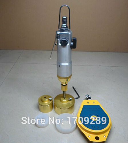 Bottle capping Machine handheld pneumatic power sealing bottles packaging equipment lid tightener cap size 5-50mm