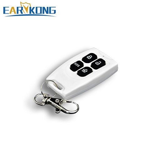 1 pieces 433MHz Wireless Remote Keychain controller For GSM Alarm System plastic white  Wireless remote control No battery
